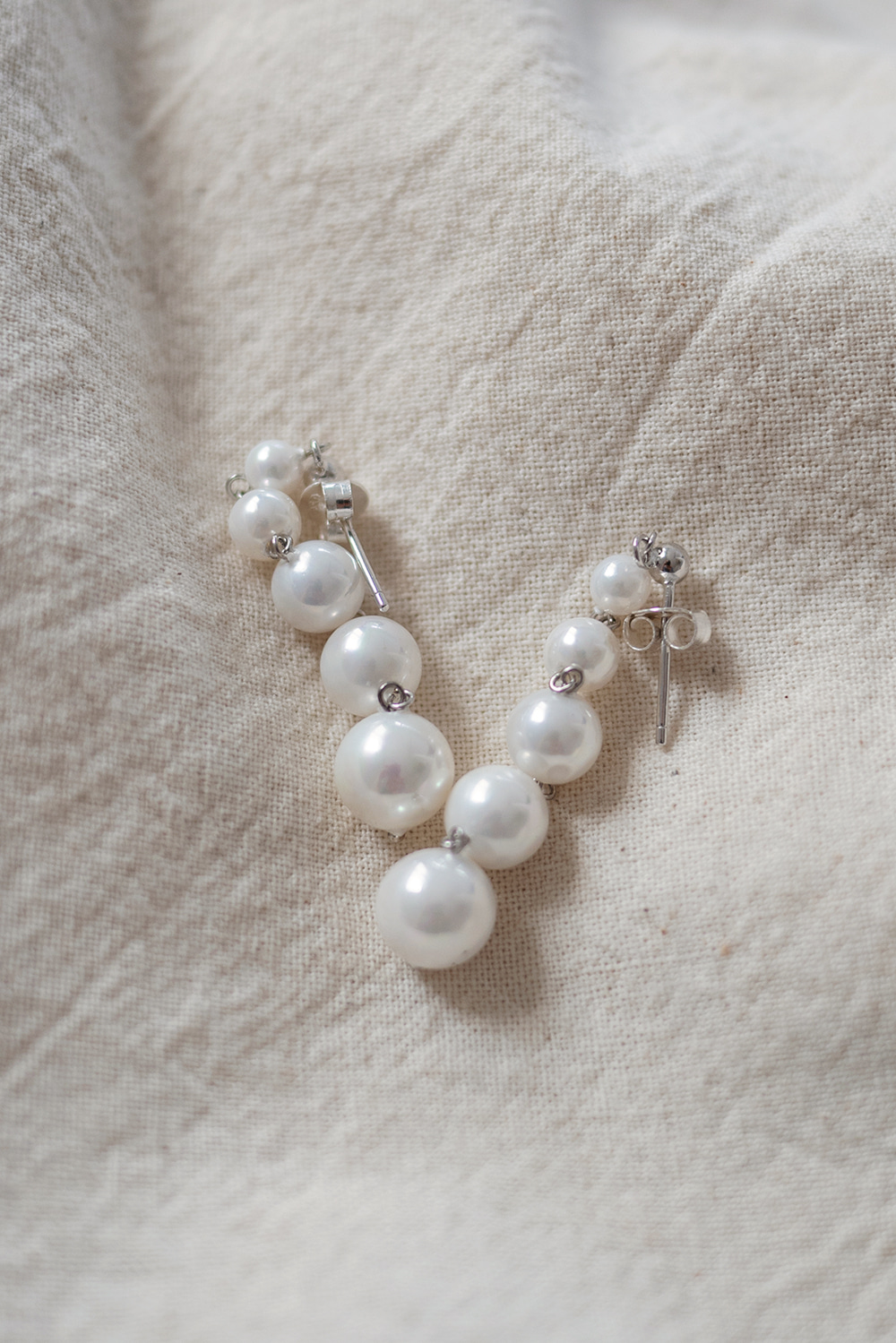 9980_Pearl snowman earring [ TODAY 5% DC ] 22일 PM6시 마감