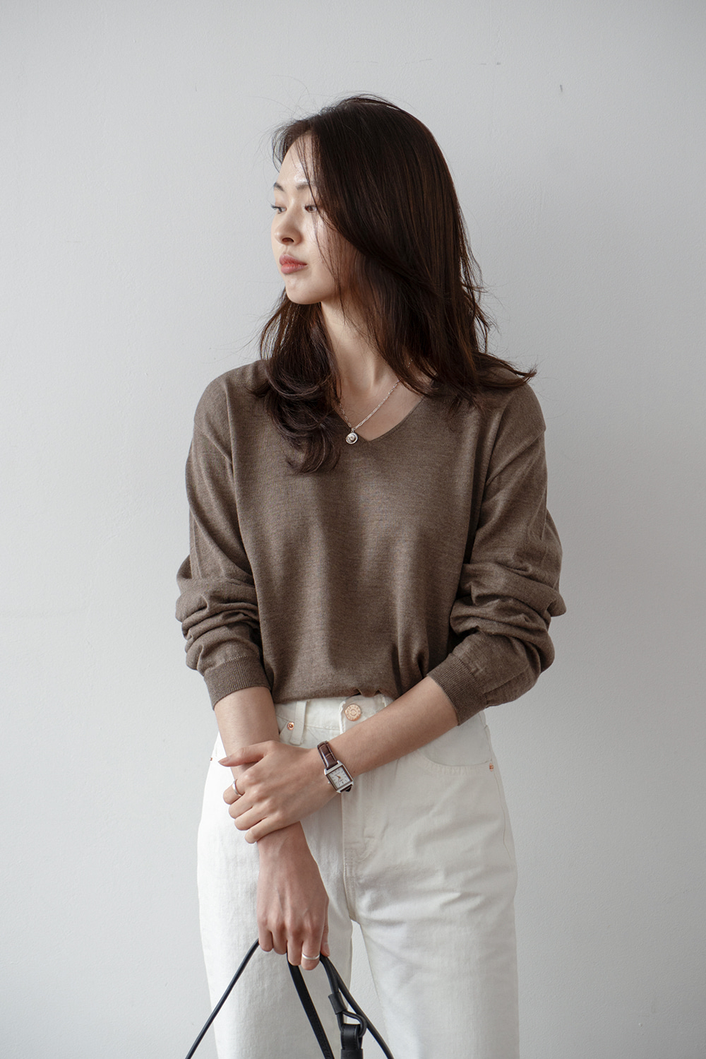 2163_Rose V Knit [ SALE 50% DC ]