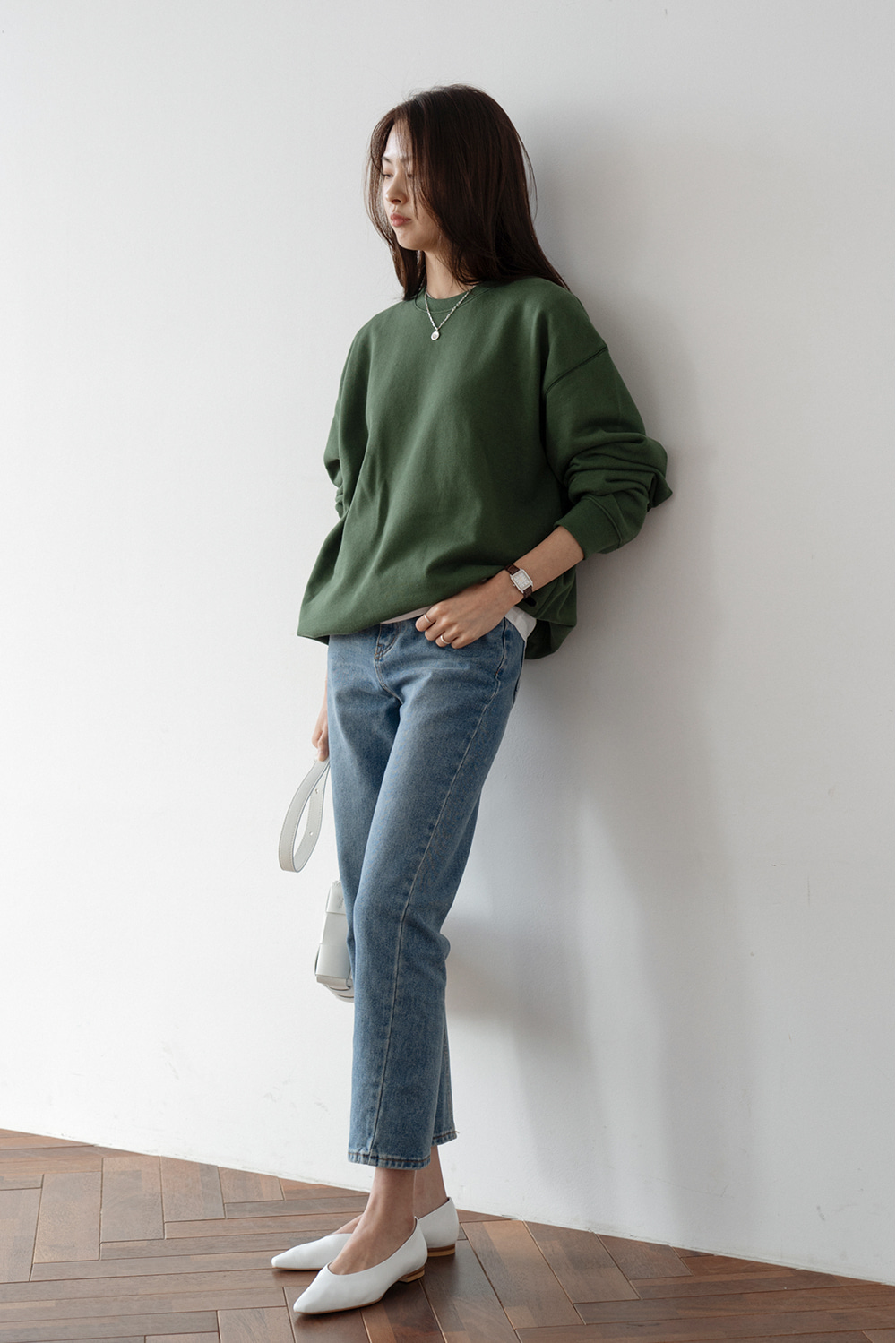 2484_Forest Green Sweat Shirt [ New Season / 10% DC ] 27일 마감
