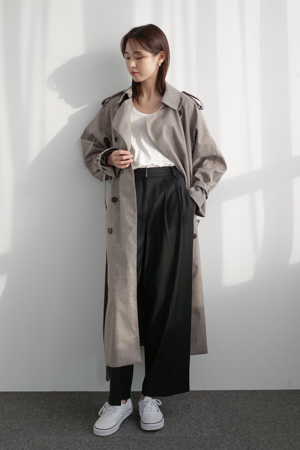 4758_Wide Tuck Trousers [ New Season / 10% DC ] 20일 PM 6 마감