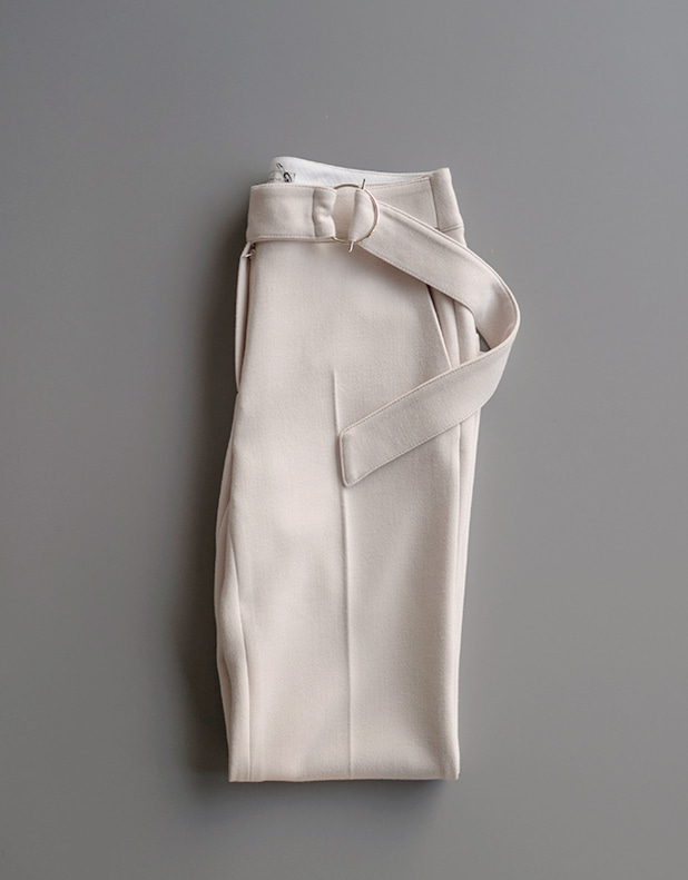 Time belted Trousers_Cream ivory7일지연