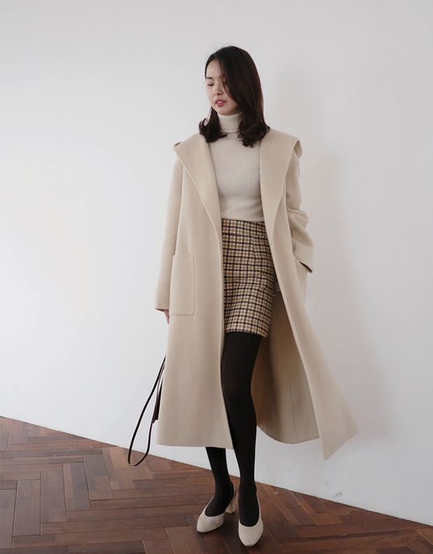 8177_Wool Coat with Hood