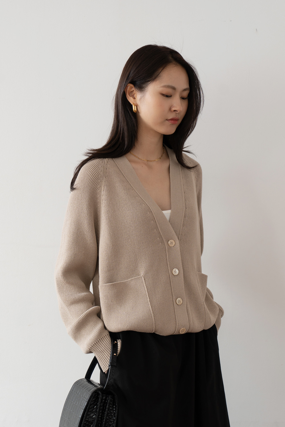 2210_Square Pocket Cardigan [ SALE 30% DC ]