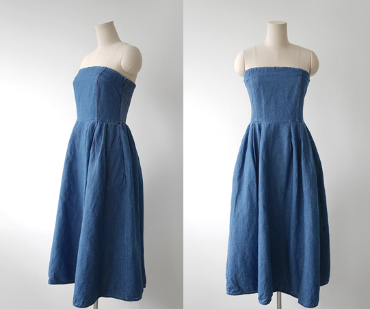Matin washed denim Dress