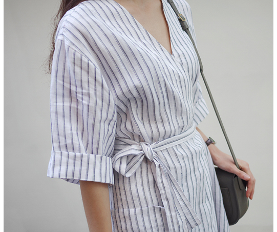 Stripe Robe Dress