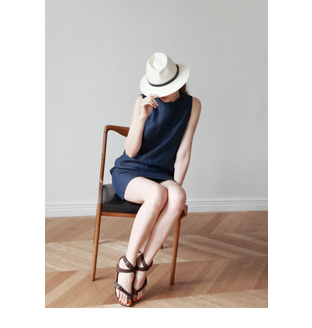 smoky_natural linen dress30%DC