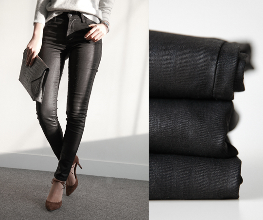smoky_Black coating pants>(50% DC)