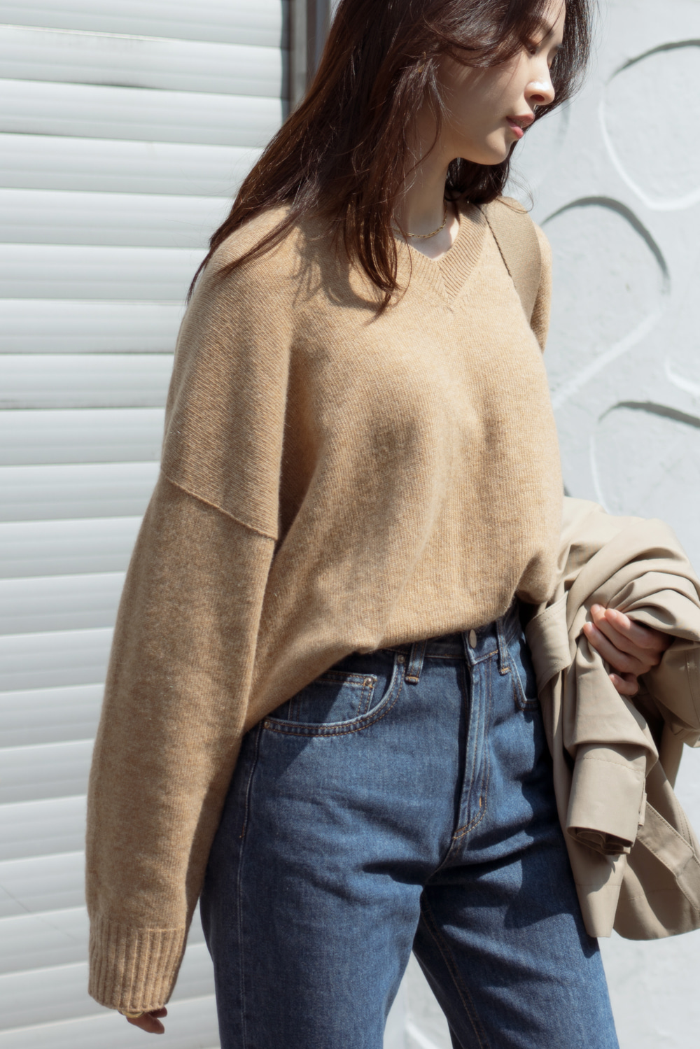 8142_Over V pullover knit [10월 셋째주초 발송예정]